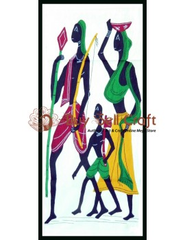 Tribal Family On A Hunting Trip Applique Craft