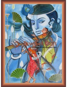 Lord Krishna Playing Flute