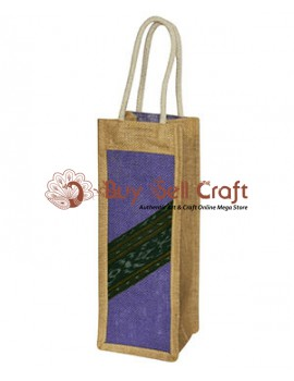 Purple Jute Bottle Cover