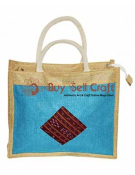 Patched Design Jute Tiffin Cover